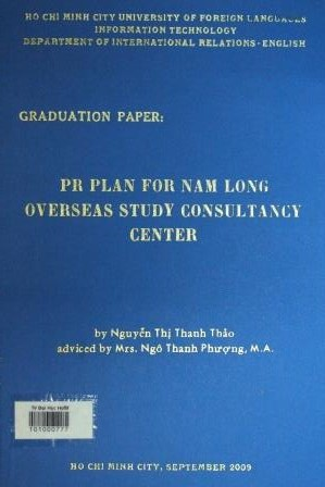 PR plan for Nam Long overseas study consultancy centerNguyễn Thị Thanh Thảo - 2009